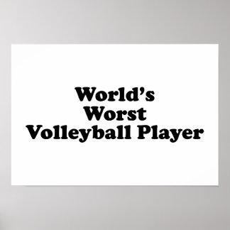 El jugador del voleibol peor del mundo póster