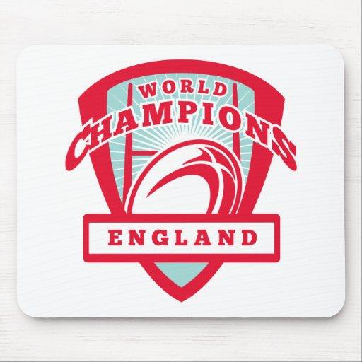 El jugador Inglaterra del rugbi defiende el escudo Alfombrillas De Ratones
