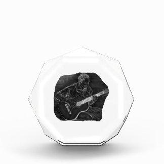 el jugador invertido de la guitarra acústica sient