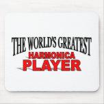 El jugador más grande de la armónica del mundo tapetes de ratones