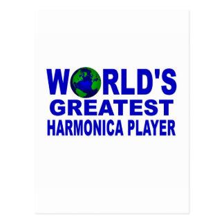El jugador más grande de la armónica del mundo tarjeta postal