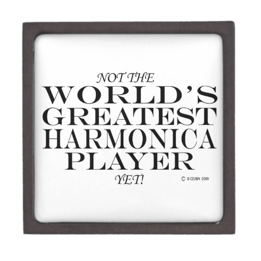 El jugador más grande de la armónica todavía cajas de joyas de calidad