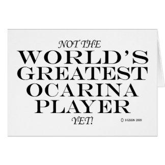El jugador más grande de Ocarina todavía Tarjeta De Felicitación