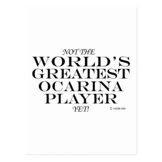 El jugador más grande de Ocarina todavía Tarjeta Postal