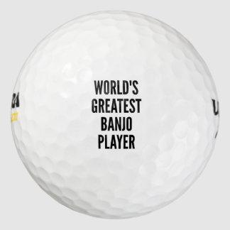 El jugador más grande del banjo de los mundos pack de pelotas de golf