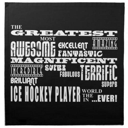El jugador más grande del hockey sobre hielo de lo servilletas de papel