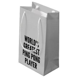 El jugador más grande del ping-pong de los mundos bolsa de regalo pequeña