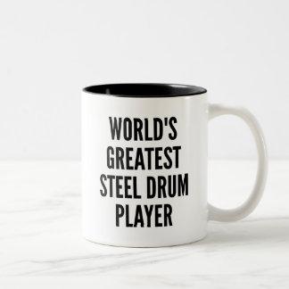 El jugador más grande del tambor de acero de los taza de dos tonos