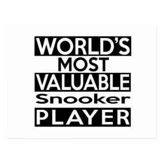 El jugador más valioso del billar del mundo postal