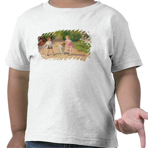 El jugar con el aro camiseta