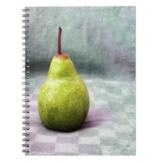 El jugar con la comida. Fruta. Pera Cuaderno