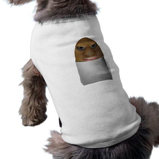 El jugar con las patatas - la nariz de la patata camiseta de perrito