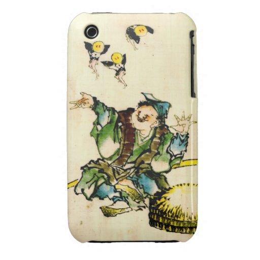 El jugar con los duendecillos 1840 iPhone 3 Case-Mate carcasa