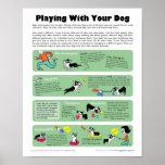 El jugar con su perro poster