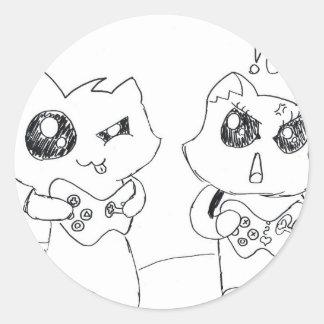 El jugar de Derpy Katz Pegatina Redonda