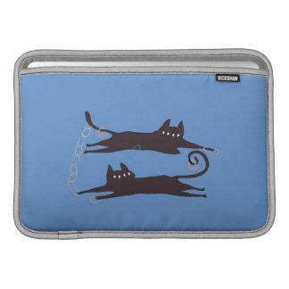 El jugar de dos gatos fundas MacBook