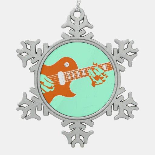 El jugar de la guitarra adorno