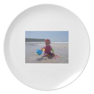 El jugar de la playa platos de comidas
