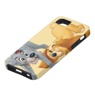 El jugar de la señora y del vagabundo iPhone 5 Case-Mate coberturas