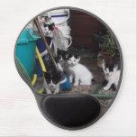 El jugar de los gatitos alfombrillas de ratón con gel
