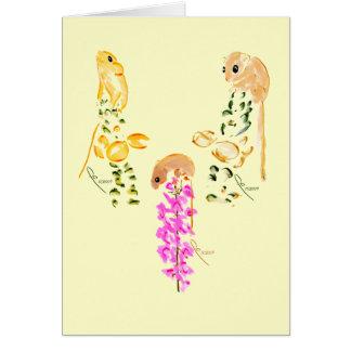 el jugar de los ratones de campo tarjeta de felicitación