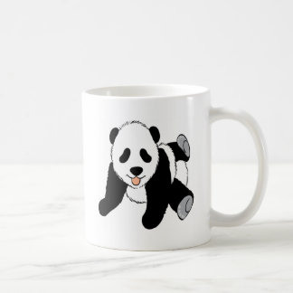 El jugar del cachorro de la panda del bebé taza
