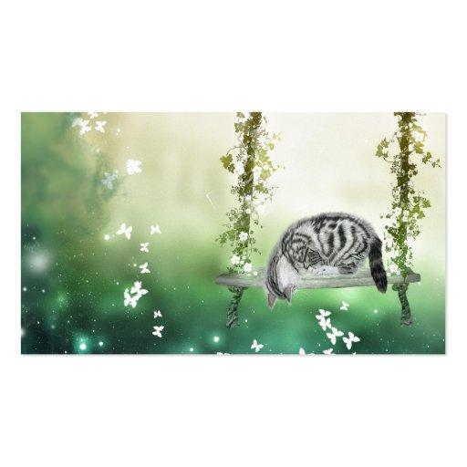 El jugar del gatito tarjetas de visita
