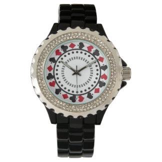 El jugar del póker diseñado relojes de pulsera
