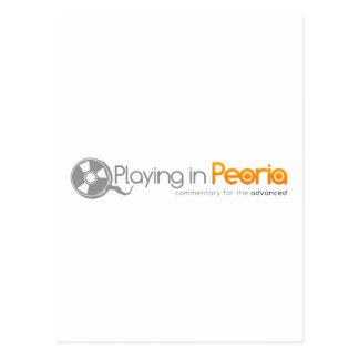 El jugar en el logotipo de Peoria Postal