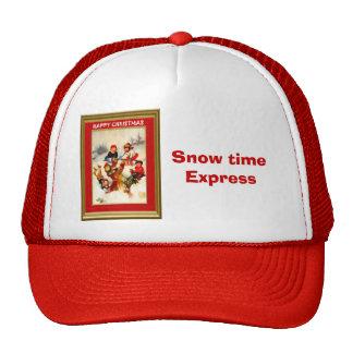 El jugar en la nieve gorras de camionero