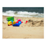 El jugar en la postal de la playa