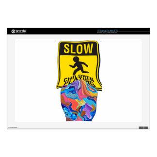 El jugar lento de los niños del flor calcomanías para 43,2cm portátiles