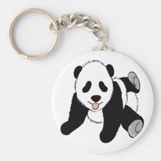 El jugar lindo del cachorro de la panda del bebé llavero