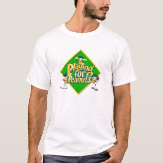 El jugar para la camiseta del blanco de los