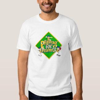 El jugar para la camiseta del blanco de los playera