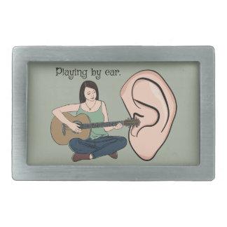 El jugar por el oído hebillas de cinturon rectangulares
