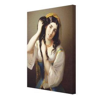 El jugar siciliano con su pelo impresión de lienzo