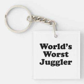 El juglar peor del mundo llavero cuadrado acrílico a una cara