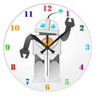 El JUGUETE del ROBOT embroma el reloj de pared