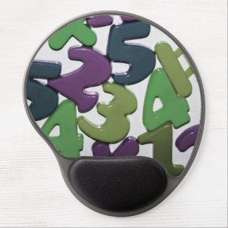 El juguete plástico numera el gel Mousepad Alfombrilla Con Gel