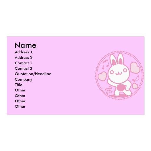 El juguete relleno del conejo tarjetas de negocios