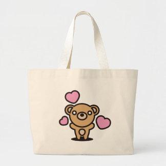 El juguete relleno del oso bolsa tela grande