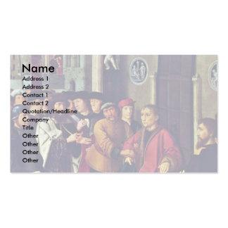 El juicio de Cambyses (el panel, detalle izquierdo Tarjetas De Visita