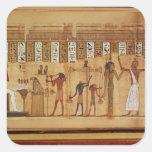 El juicio de Osiris, detalle Calcomania Cuadradas Personalizada