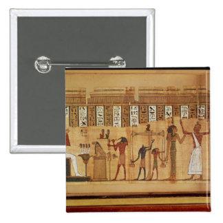 El juicio de Osiris, detalle Pin Cuadrada 5 Cm