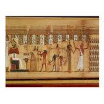 El juicio de Osiris, detalle Postales