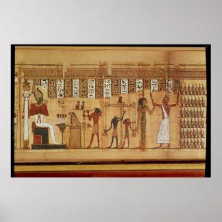 El juicio de Osiris, detalle Póster