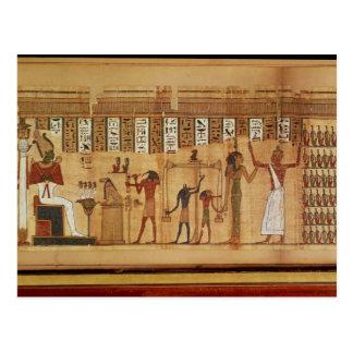El juicio de Osiris, detalle Postal