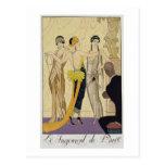 El juicio de París, 1920-30 (impresión del pochoir Tarjetas Postales