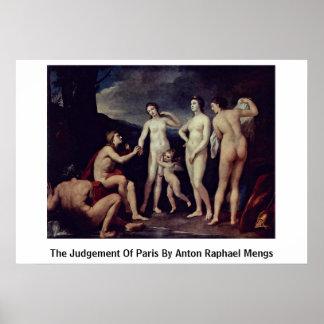 El juicio de París de Anton Raphael Mengs Póster